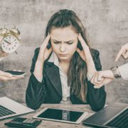 Frau im Stress
