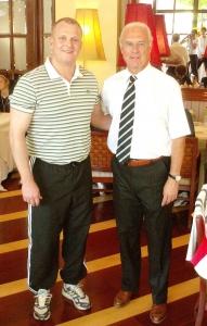 Carsten Lueg mit Franz Beckenbauer bei der WM in Chile