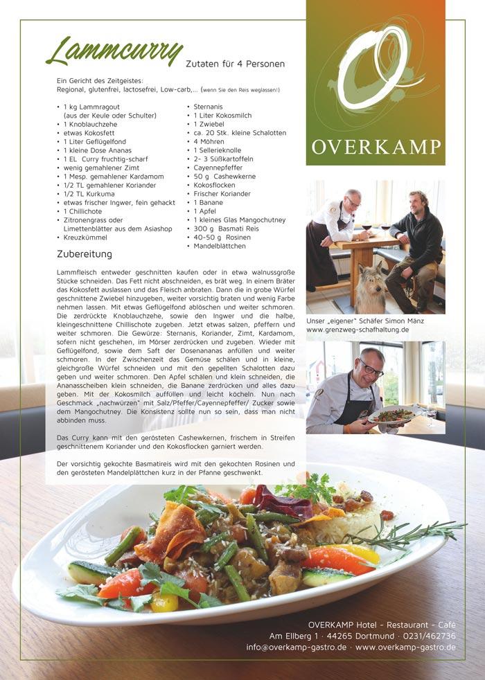 Rezept von Overkamp: Lammcurry