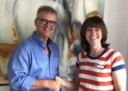 Dr. med. Martin Kranich begrüßt neue Schmerztherapeutin Dr. med. Nicole Lambertz-El Hindy im Prävent Centrum